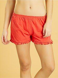 Pantalón corto de pijama con volante - Kiabi