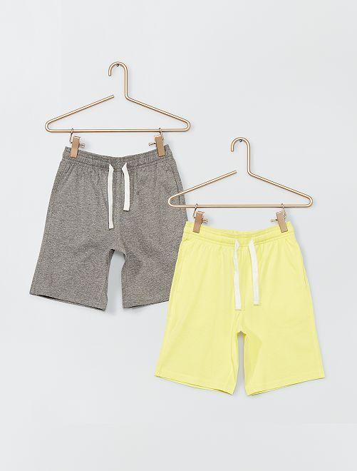 Pantalón corto de punto                                         AMARILLO