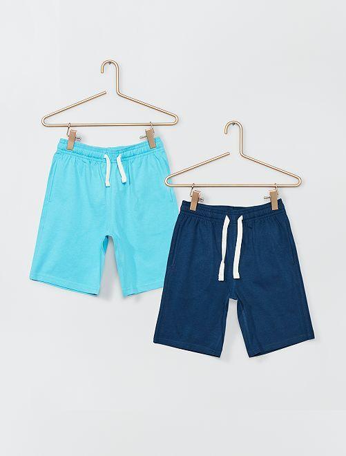 Pantalón corto de punto                                         AZUL