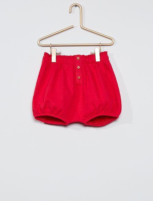 Pantalón corto de punto de fantasía                                         ROSA