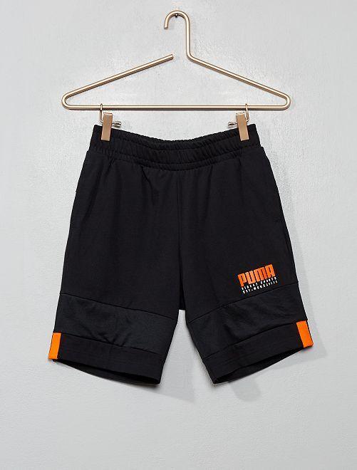 Pantalón corto de punto de 'Puma'                             negro