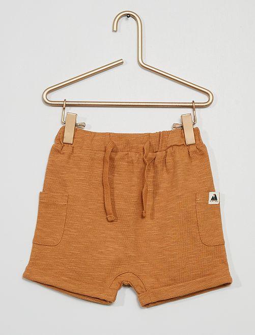 Pantalón corto de punto estampado 'montañas'                                         MARRON
