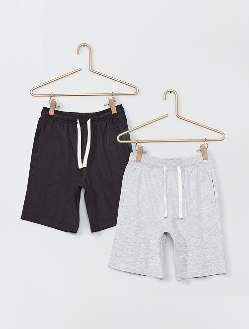 Pantalón corto de punto                                         GRIS