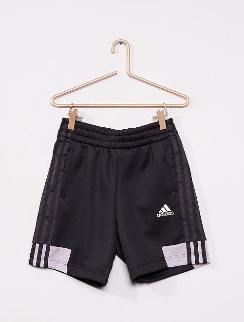 Pantalón corto de punto satinado 'Adidas'                             NEGRO