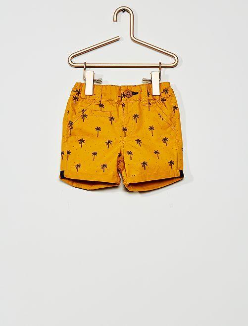 Pantalón corto de sarga                                                                                         AMARILLO