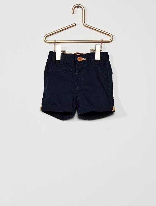 Pantalón corto de sarga                                                                                         azul