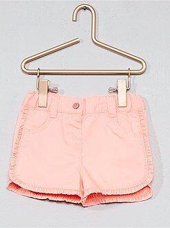 Shorts, bermudas - Pantalón corto de sarga con volantes en los bordes - Kiabi