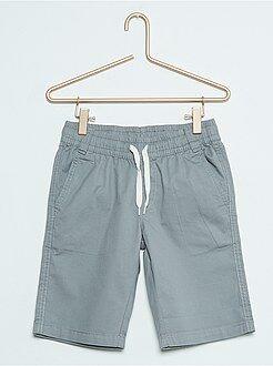 Niño 3-12 años Pantalón corto de sarga de algodón