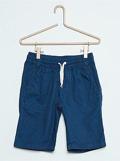 Bermudas, shorts - Pantalón corto de sarga de algodón