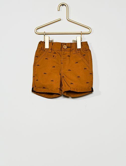 Pantalón corto de sarga                                                                 MARRON
