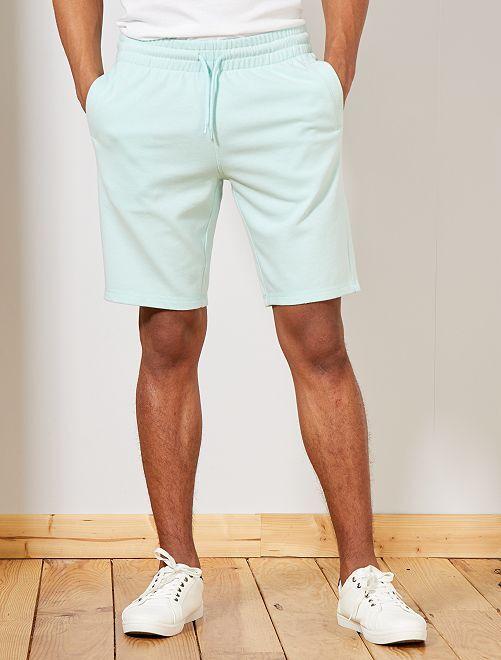dfc51435ca Pantalón corto deportivo de felpa Hombre - azul claro - Kiabi - 8