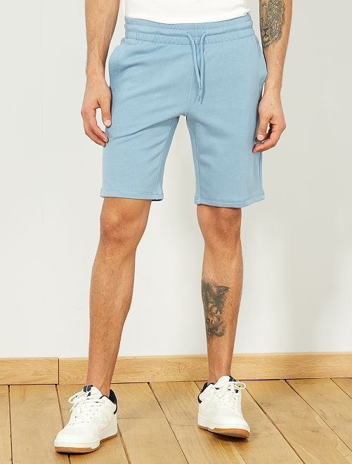 Pantalón corto deportivo de felpa                                                                                         azul gris pala Hombre