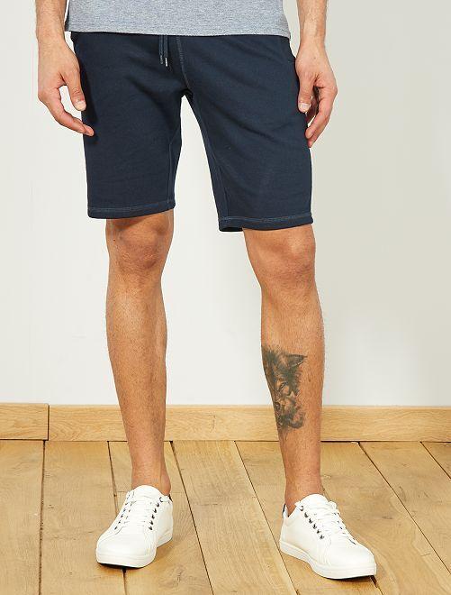 Pantalón corto deportivo de felpa                                                                                         azul Hombre