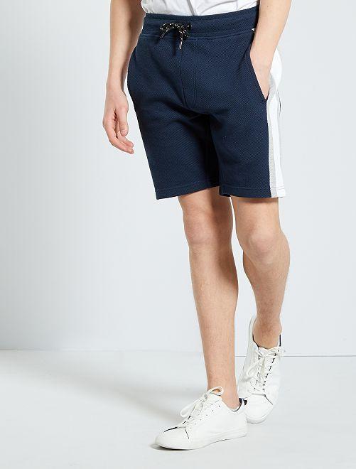 Pantalón corto deportivo de felpa                     AZUL