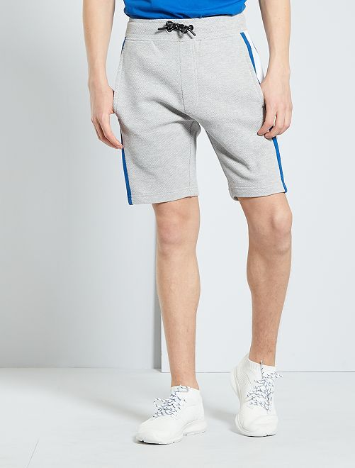 Pantalón corto deportivo de felpa                                         GRIS