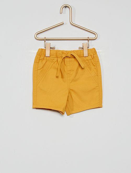 Pantalón corto eco-concepción                                                                 AMARILLO
