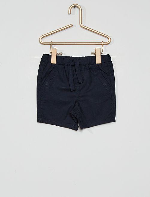 Pantalón corto eco-concepción                                                                 azul