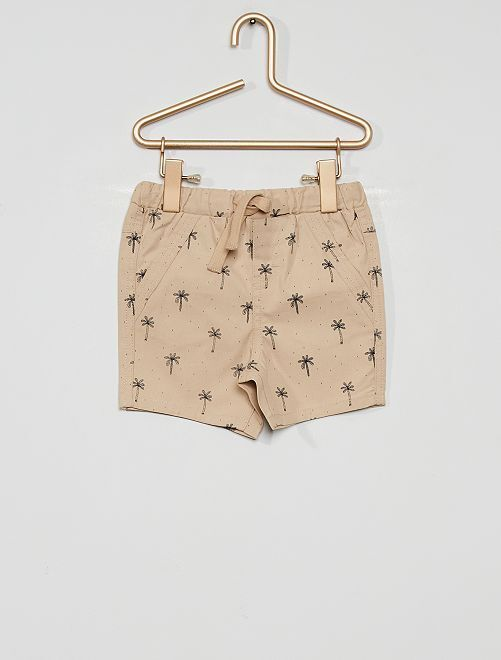 Pantalón corto eco-concepción                                                                 BEIGE