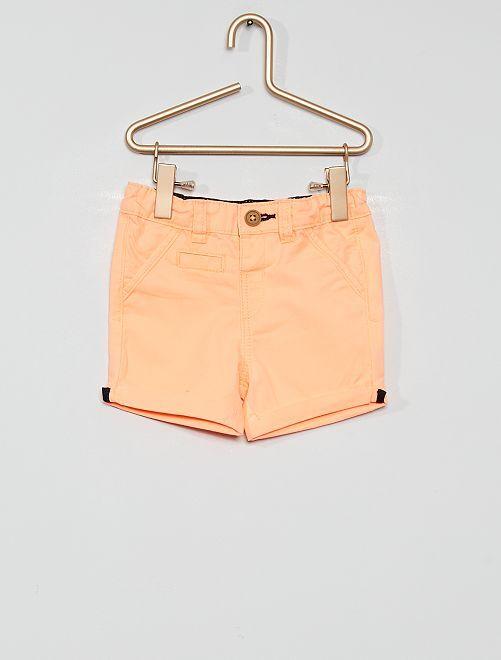 Pantalón corto eco-concepción                                                                                                     flúor naranja