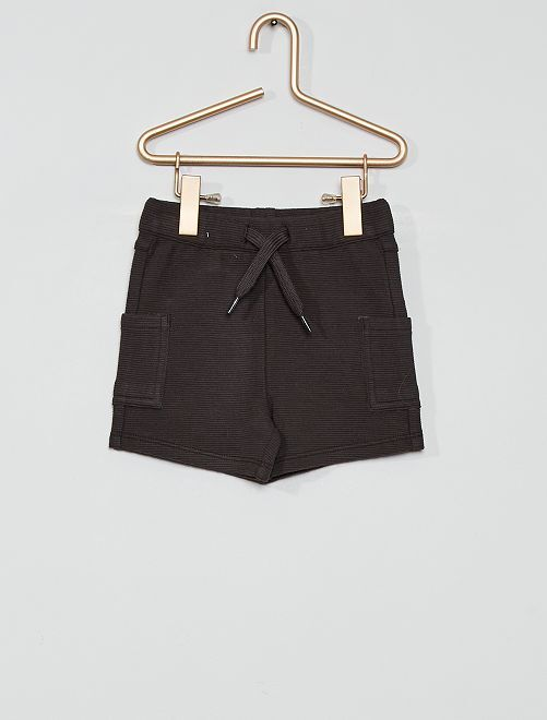 Pantalón corto eco-concepción                                                     gris oscuro