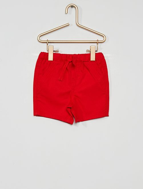 Pantalón corto eco-concepción                                                                 rojo
