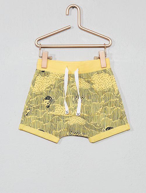 Pantalón corto estampado                                         AMARILLO Bebé niño