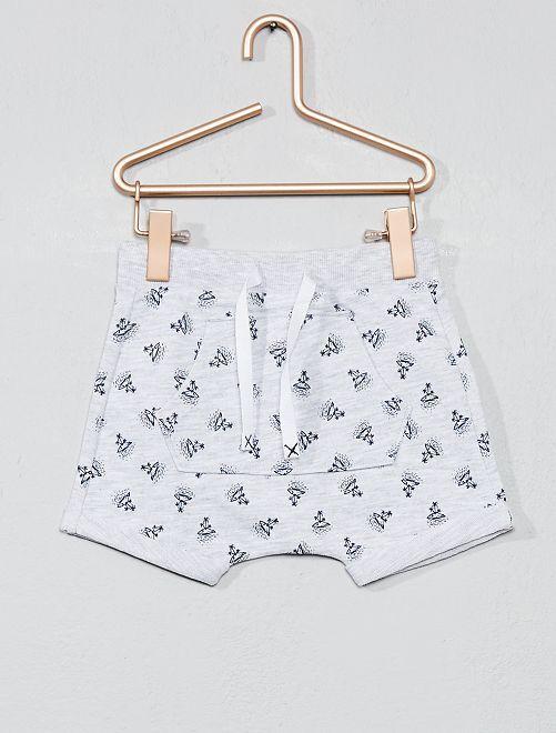 Pantalón corto estampado                     GRIS Bebé niño