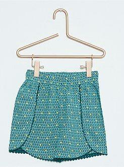 Shorts, bermudas - Pantalón corto estampado vaporoso