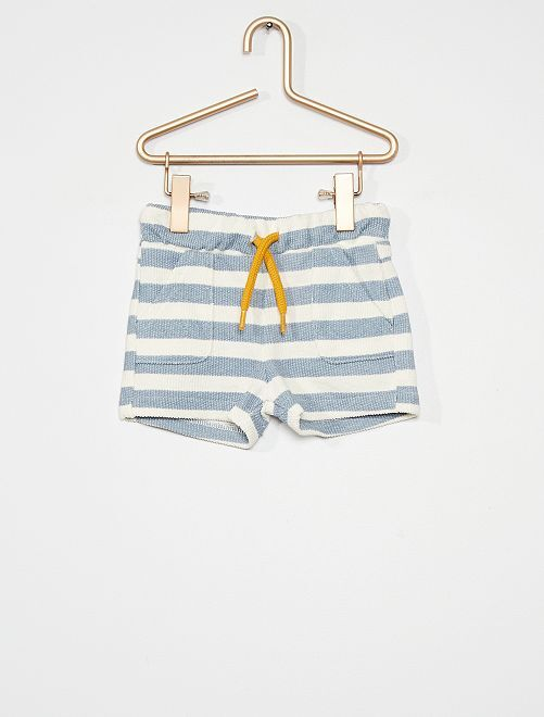 Pantalón corto french terry                                         BLANCO