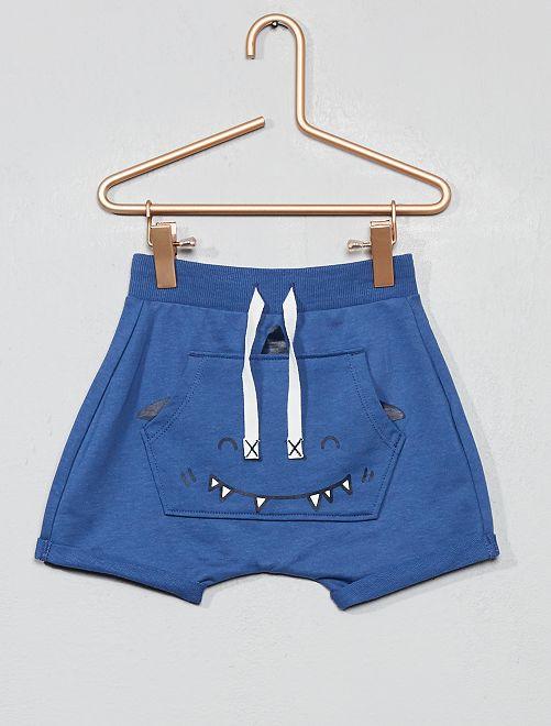 Pantalón corto ligero con bolsillo de adorno                                                     AZUL Bebé niño