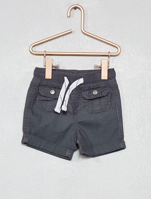 Pantalón corto multibolsillos                                                                 GRIS Bebé niño