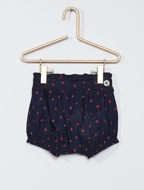 Pantalón corto pololo eco-concepción                             AZUL