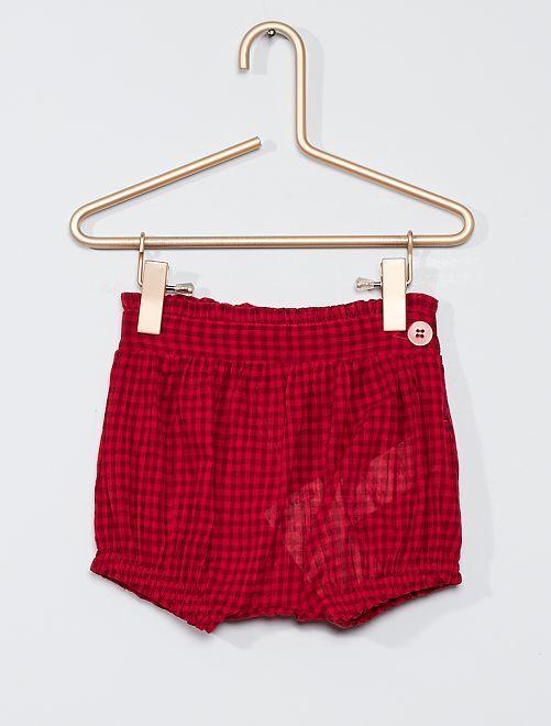 Pantalón corto pololo eco-concepción                             ROJO