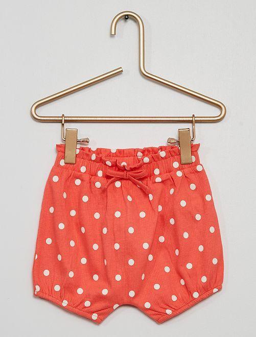 Pantalón corto tipo pololo de lunares                                                                 rosa lunar