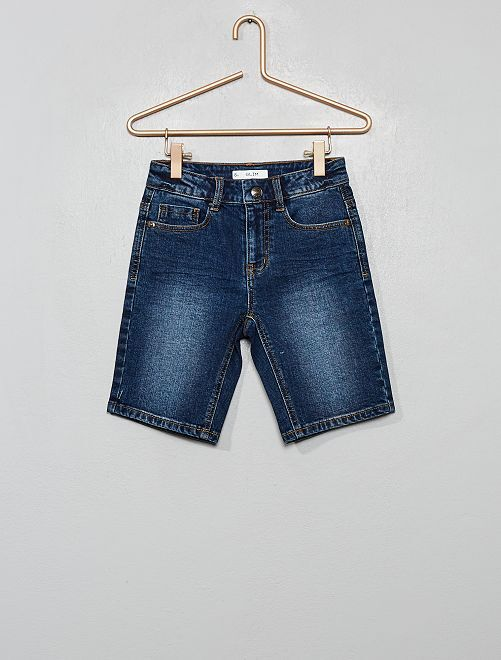 Pantalón corto vaquero slim                                                     AZUL