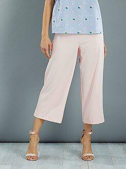 Pantalones - Pantalón culotte de crepé