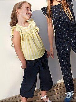 Pantalones cortos, short talla 3a - Pantalón culotte vaporoso liso - Kiabi
