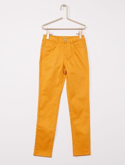 Pantalón de algodón elástico niños talla -                                                                             AMARILLO