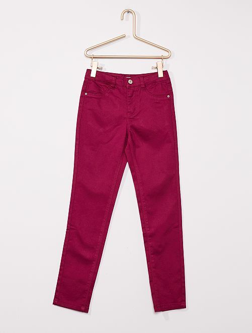 Pantalón de algodón elástico niños talla -                                                                             ciruela