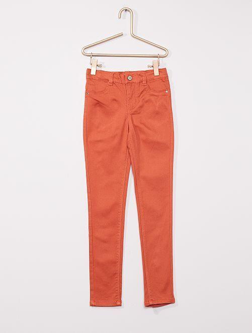Pantalón de algodón elástico niños talla -                                                                             NARANJA