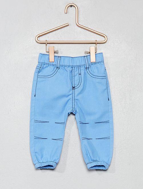 Pantalón de algodón puro                                                                 azul Bebé niño
