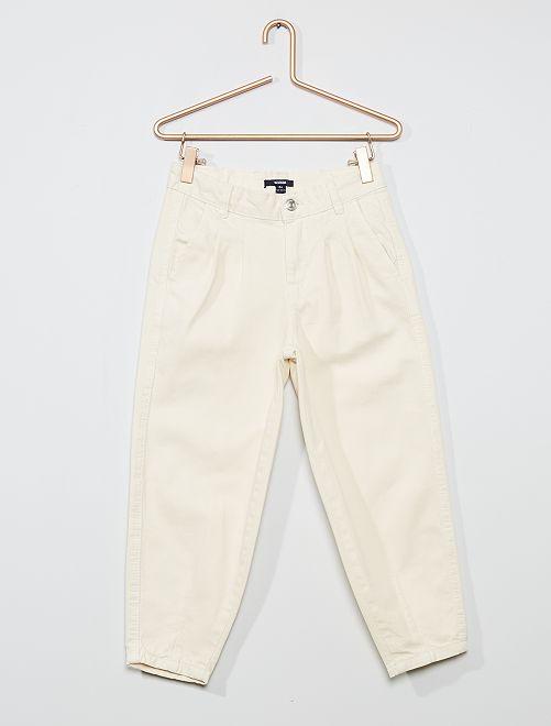 Pantalón de algodón puro                                         blanco nieve