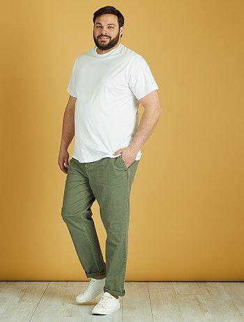 Pantalón de algodón y lino - Kiabi