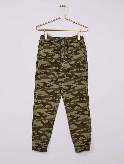 Pantalón de 'camuflaje'                                                                                         KAKI