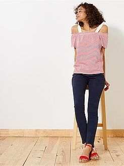 Mujer Pantalón de corte slim