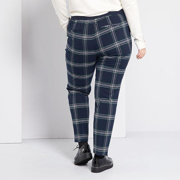 Pantalon De Cuadros Tallas Grandes Mujer Kiabi 20 00