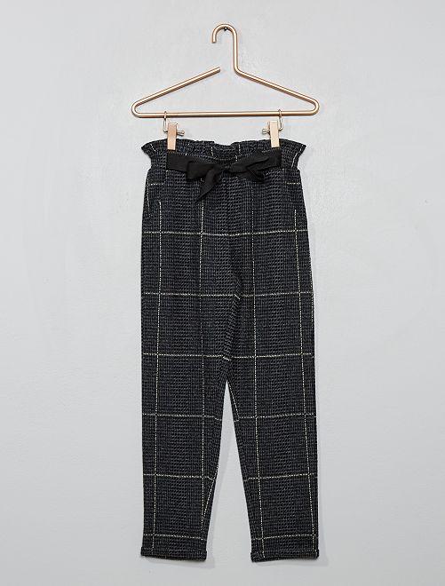 Pantalón de cuadros                                         NEGRO