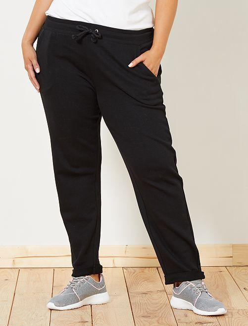 Pantalón de deporte con detalles brillantes                                                     negro