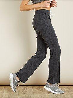 Mujer - Pantalón de deporte de algodón de felpa - Kiabi