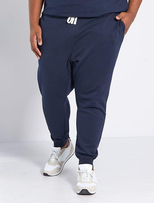 Pantalón de deporte de felpa                                 AZUL